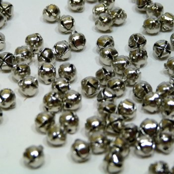 Pack of 10 - 6mm Bell - Silver
