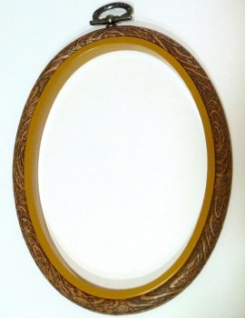 "Medium 4"" x 5.5"" Oval Flexi Embroidery Hoop"
