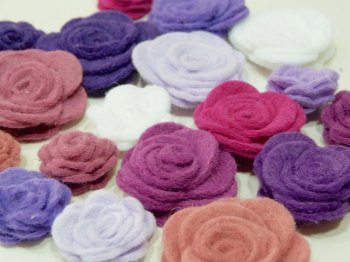Make Me - Die Cut Roses Set - Purples