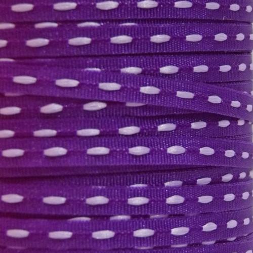 3mm Centre Stitch Ribbon - Purple