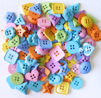50g Geometric Shaped Buttons