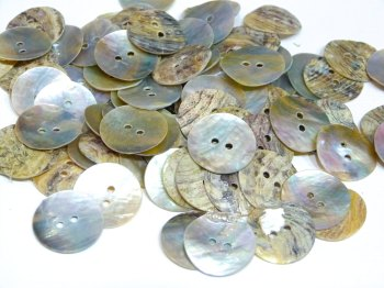 SALE 20 x 20mm Round Mother Of Pearl Buttons