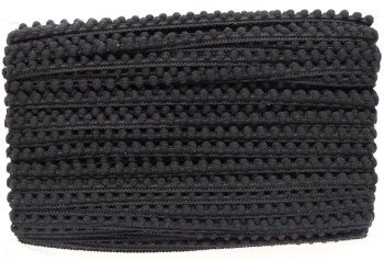 5mm Pom Pom Trim - Black