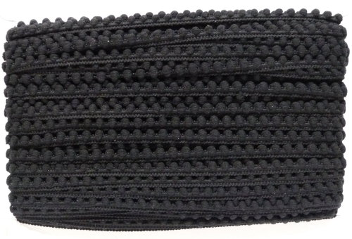 9mm Pom Pom Trim - Black