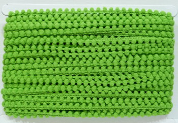 5mm Pom Pom Trim - Green