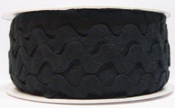 16mm Ric Rac - Black