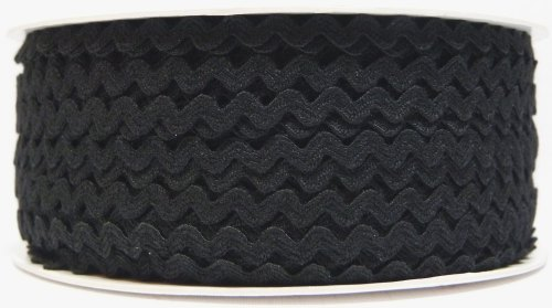 6mm Ric Rac - Black