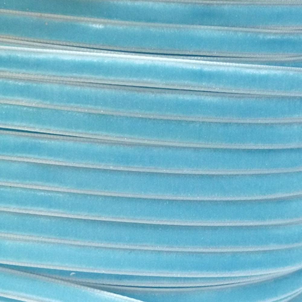 6mm Velvet Ribbon - Light Blue