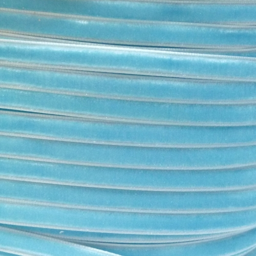 6mm Velvet Ribbon - Light Blue