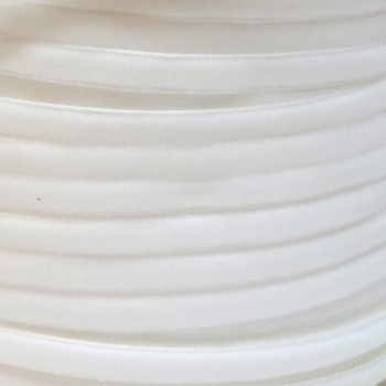 6mm Velvet Ribbon - White
