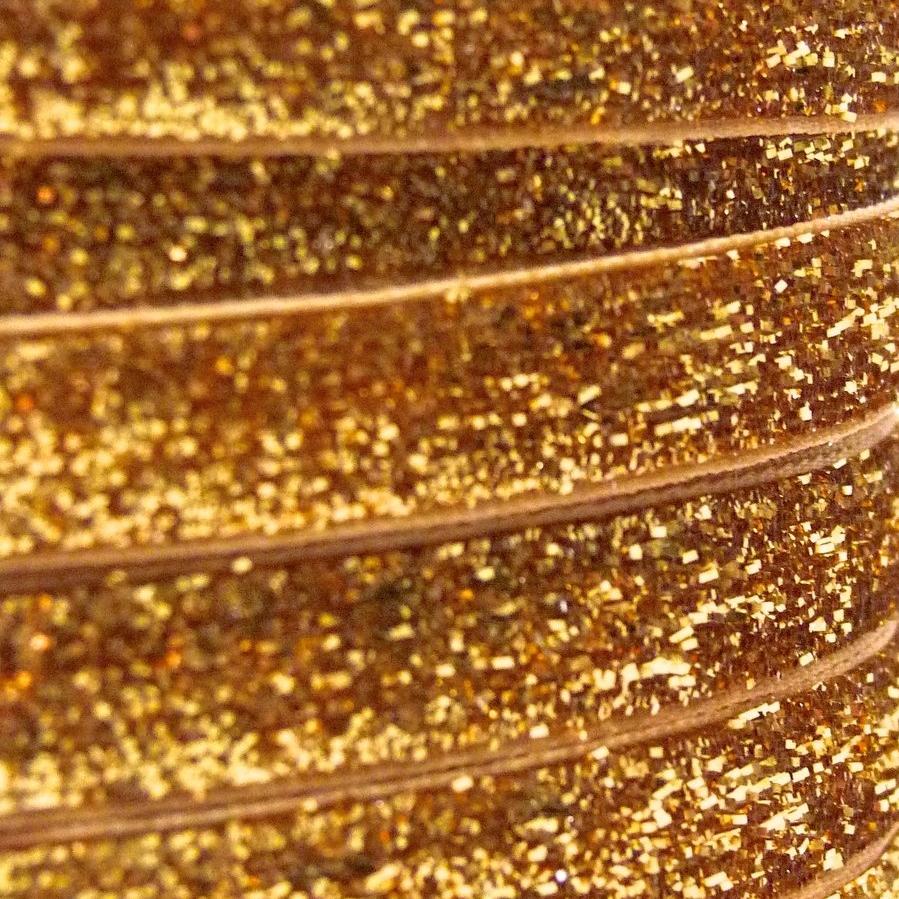 9mm Glitter Velvet Ribbon - Orange