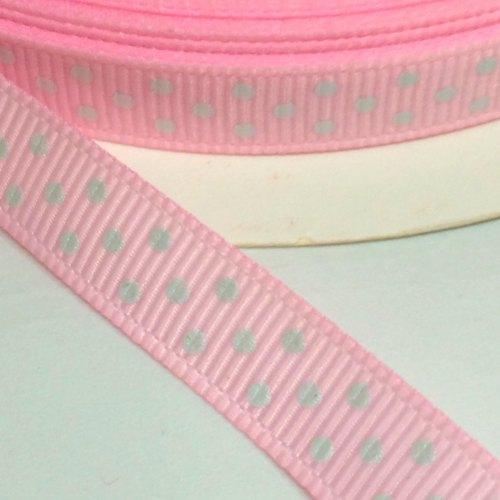 9mm Polka Dot Grosgrain Ribbon - Pink