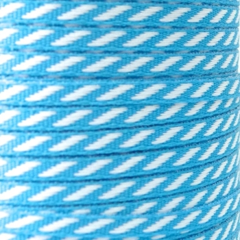 4mm wide Diagonal Stripe Ribbon - Blue