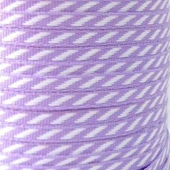 4mm wide Diagonal Stripe Ribbon - Lilac