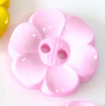 23mm Flower Buttons - Pink