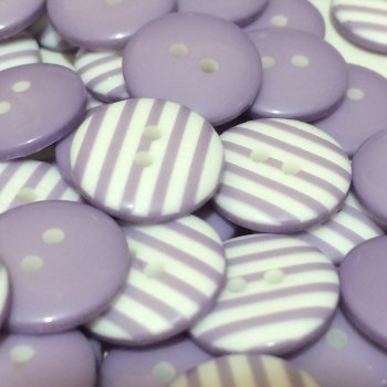 SALE 12mm Stripe Button - Lilac