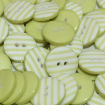 12mm Stripe Button - Pale Lime
