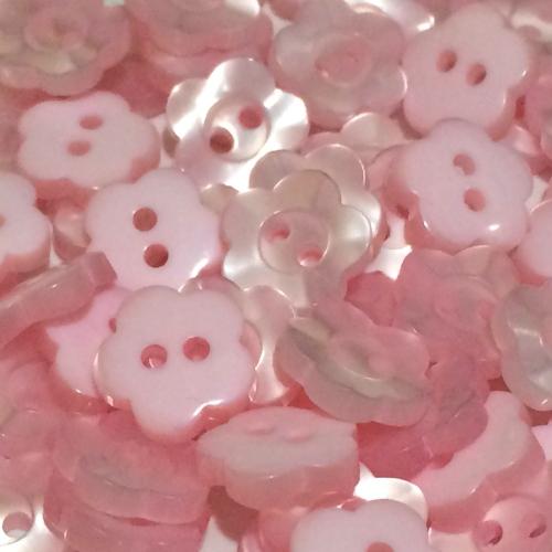 11mm Pearl Flower Button - Light Pink
