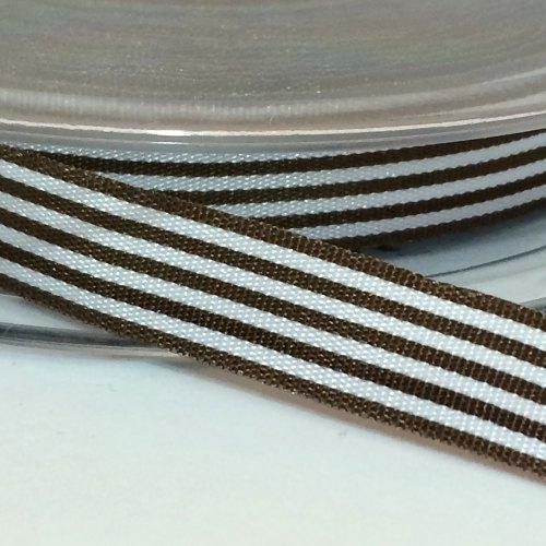 9mm Pencil Stripe Ribbon - Brown
