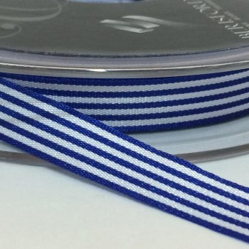 9mm Pencil Stripe Ribbon - Royal Blue