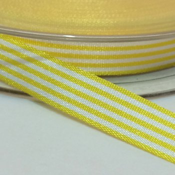 9mm Pencil Stripe Ribbon - Yellow