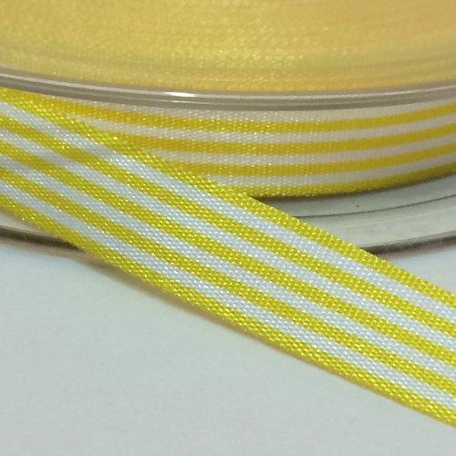 9mm Pencil Stripe Ribbon - Yellow