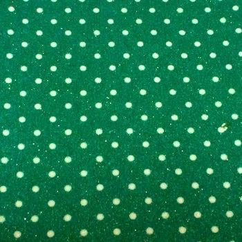Dotty Polka Dot Glitter Fabric Sheet - Green
