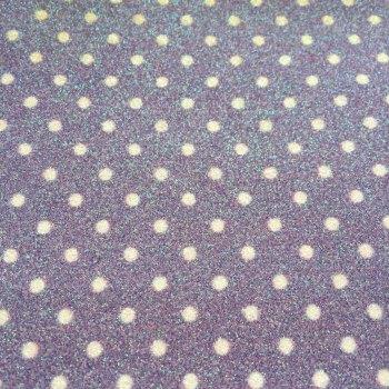 Dotty Polka Dot Glitter Fabric Sheet - Pastel Lilac