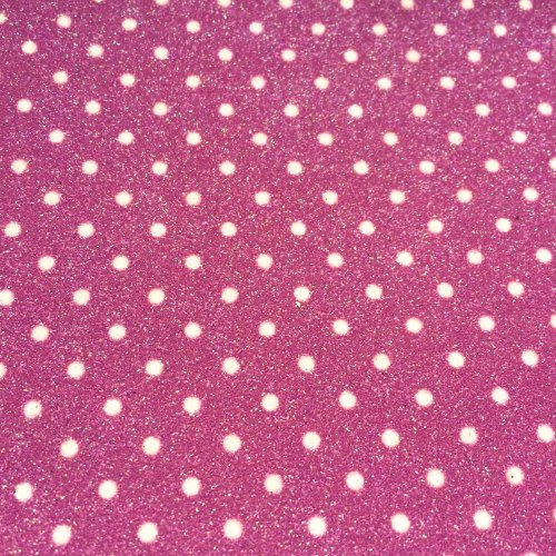 Fine Polka Dot Glitter Fabric Sheet - Pink
