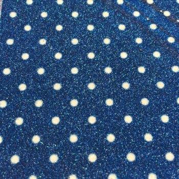Dotty Polka Dot Glitter Fabric Sheet - Royal Blue