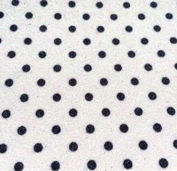 Dotty Polka Dot Glitter Fabric Sheet - White