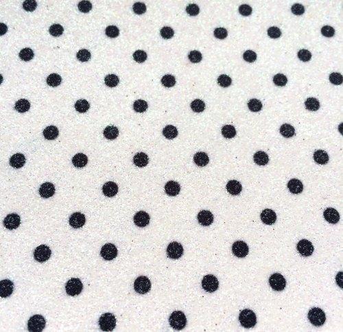 Fine Polka Dot Glitter Fabric Sheet - White