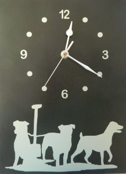 Terriers themed clock