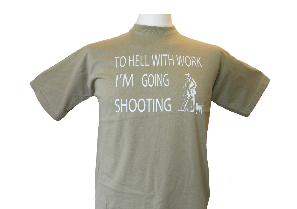 To Hell with work - shooting tshirt