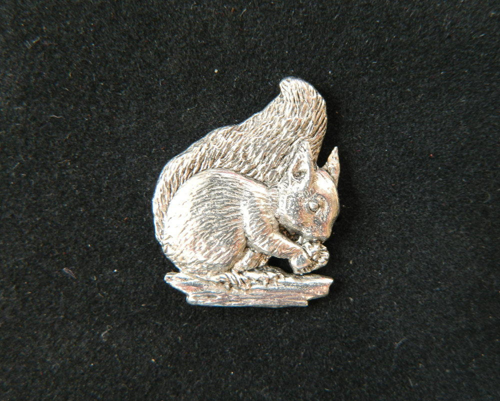 New ProductSquirrel pewter pin badge