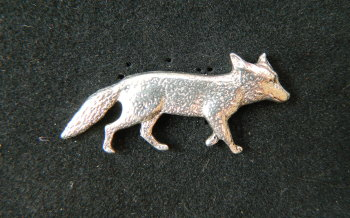 Fox pewter pin badge