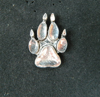 Badger print pewter pin badge