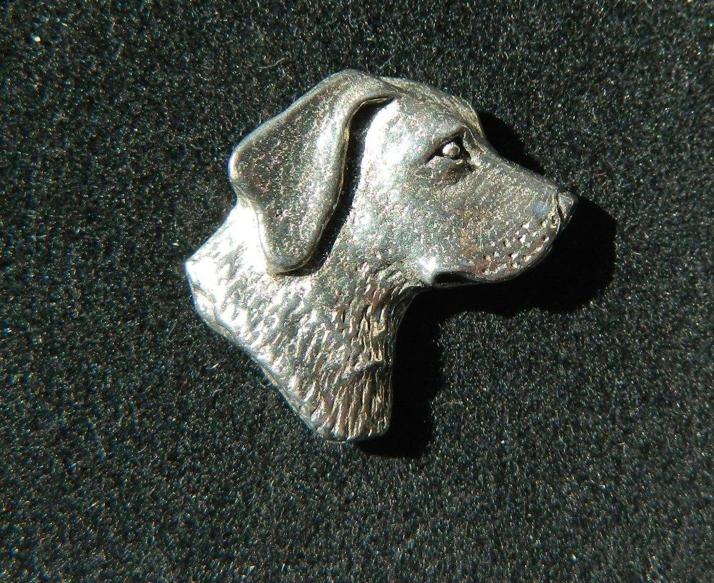 Labrador head pin badge