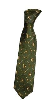 Silk Tie  Duck and Gun pattern