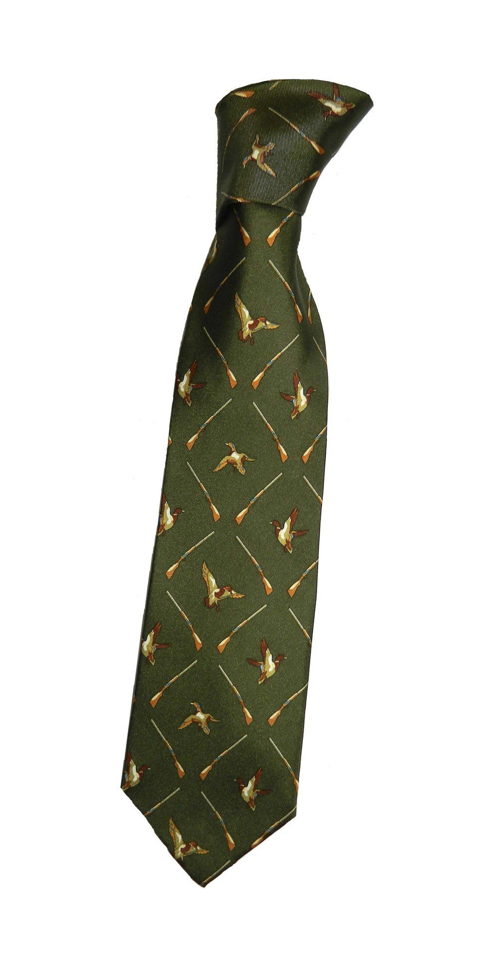 New Product Duck and Gun pattern silk tie
