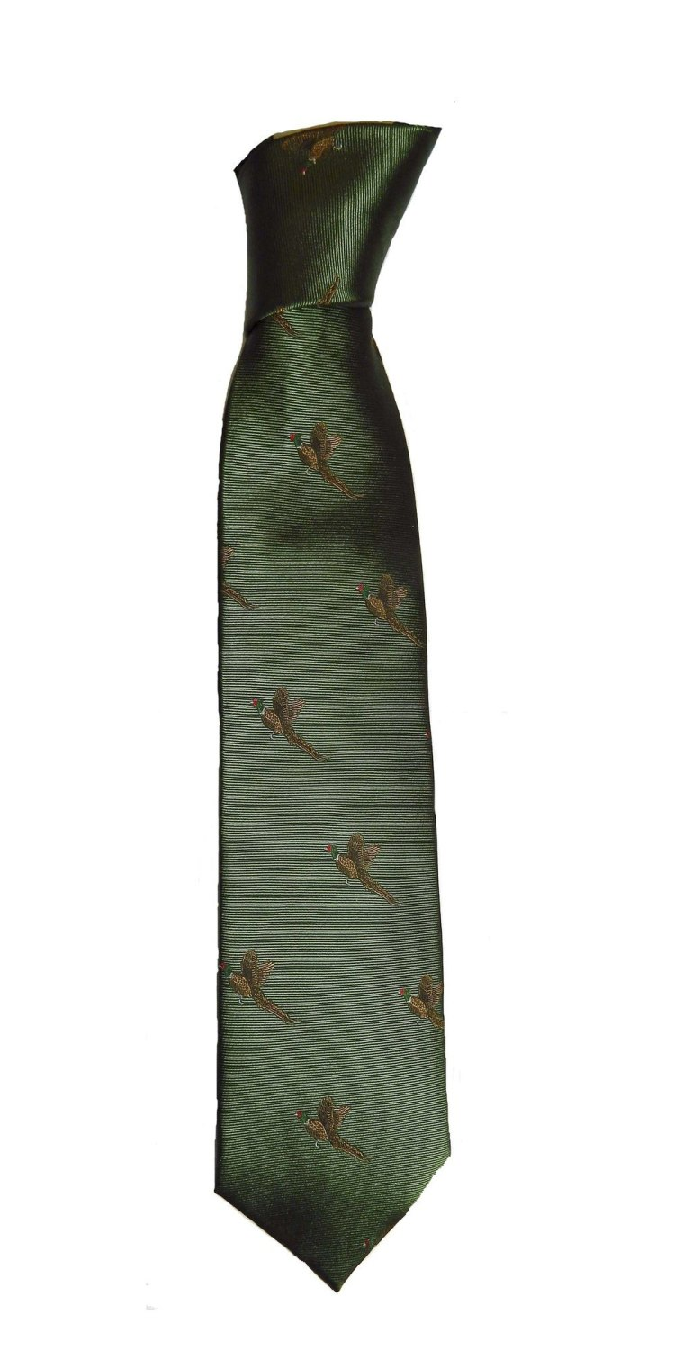 New Product Flying pheasant silk tie
