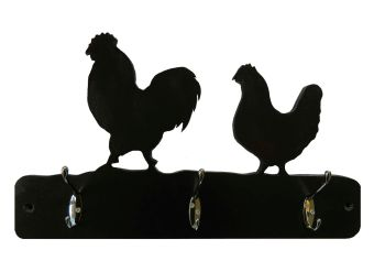 Coat Hooks --- Farmyard Chickens