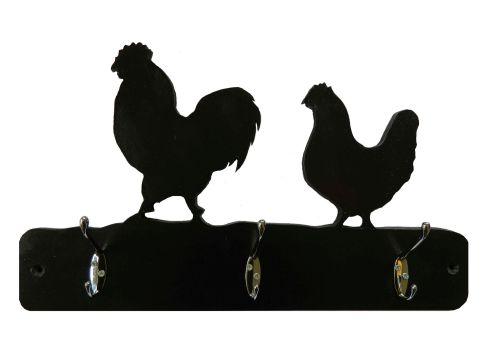 Coat Hooks --- Farmyard Chickens