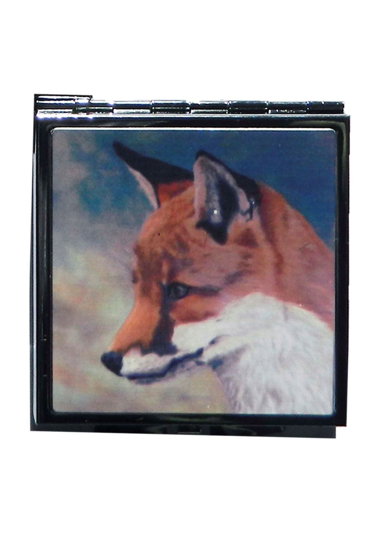 Fox Head Picture Handbag Mirror