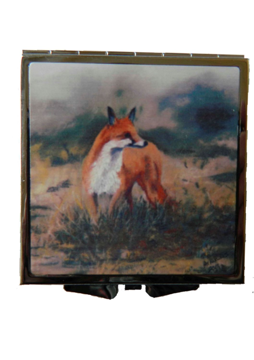 Fox on the prowl Handbag Mirror