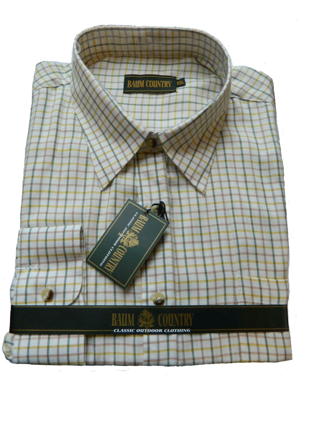 Baum Country Green and Cream check shirt