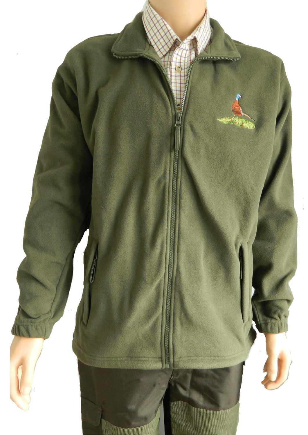 Fleece Jacket with pheasant motif