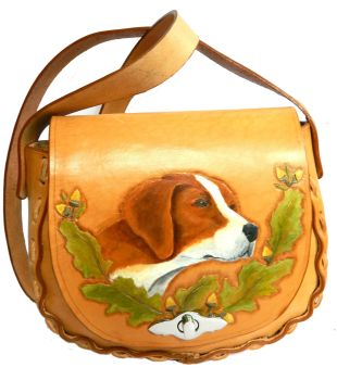Leather saddle bag, Fox Hound