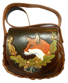 Leather saddle bag, Fox picture