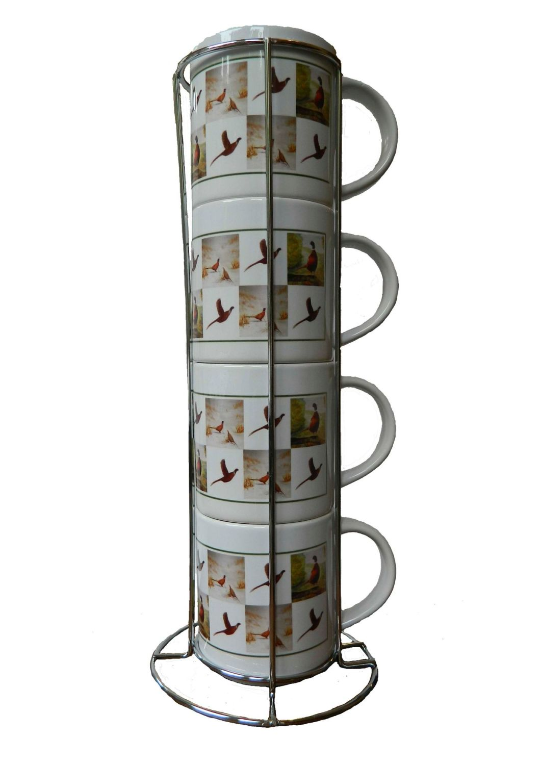 New Product Pheasant stacking mugs